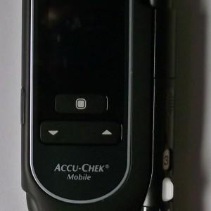 Foto des AccuChek Mobile von oben